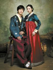 Hanbok classe aisée