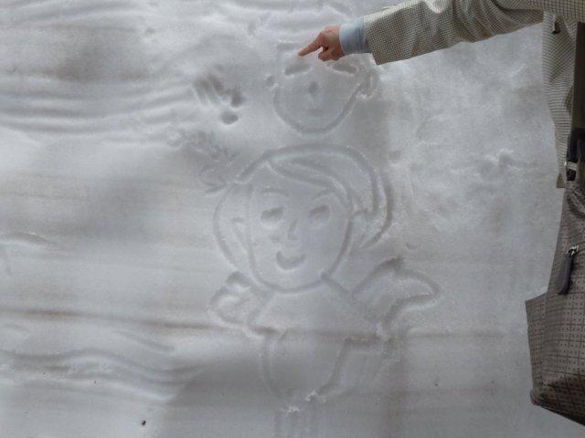 11 angel drawn on snow wall, mt.tateyama, murodo, toyama